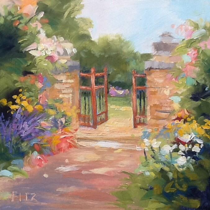 """""""Impressionist's Garden"""" original fine art by Jean Fitzgerald"""