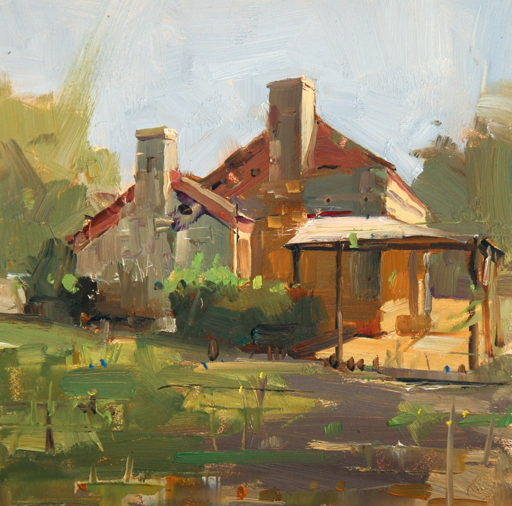 """Spring at Dies Ranch"" original fine art by Qiang Huang"