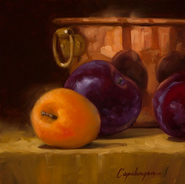 """Mom's Copper Bowl"" original fine art by David Capalungan"