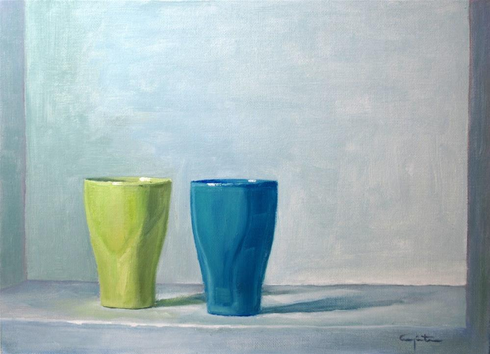 """Dos vasos"" original fine art by Eduardo Carpintero"