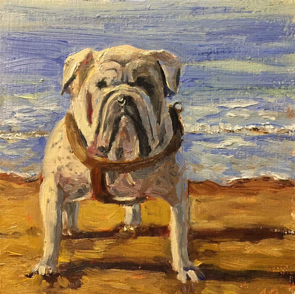 """Bulldog"" original fine art by Natasha Ramras"