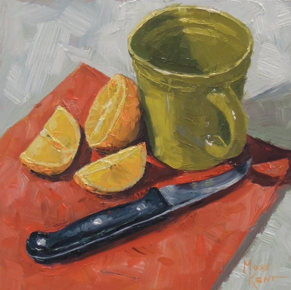 """Orange"" original fine art by Moss Kent"