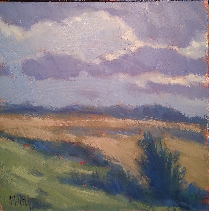 """Silver Linings Clouds and Landscape oil painting"" original fine art by Heidi Malott"