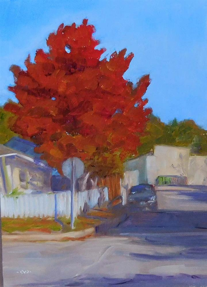 """On The Corner"" original fine art by Cietha Wilson"