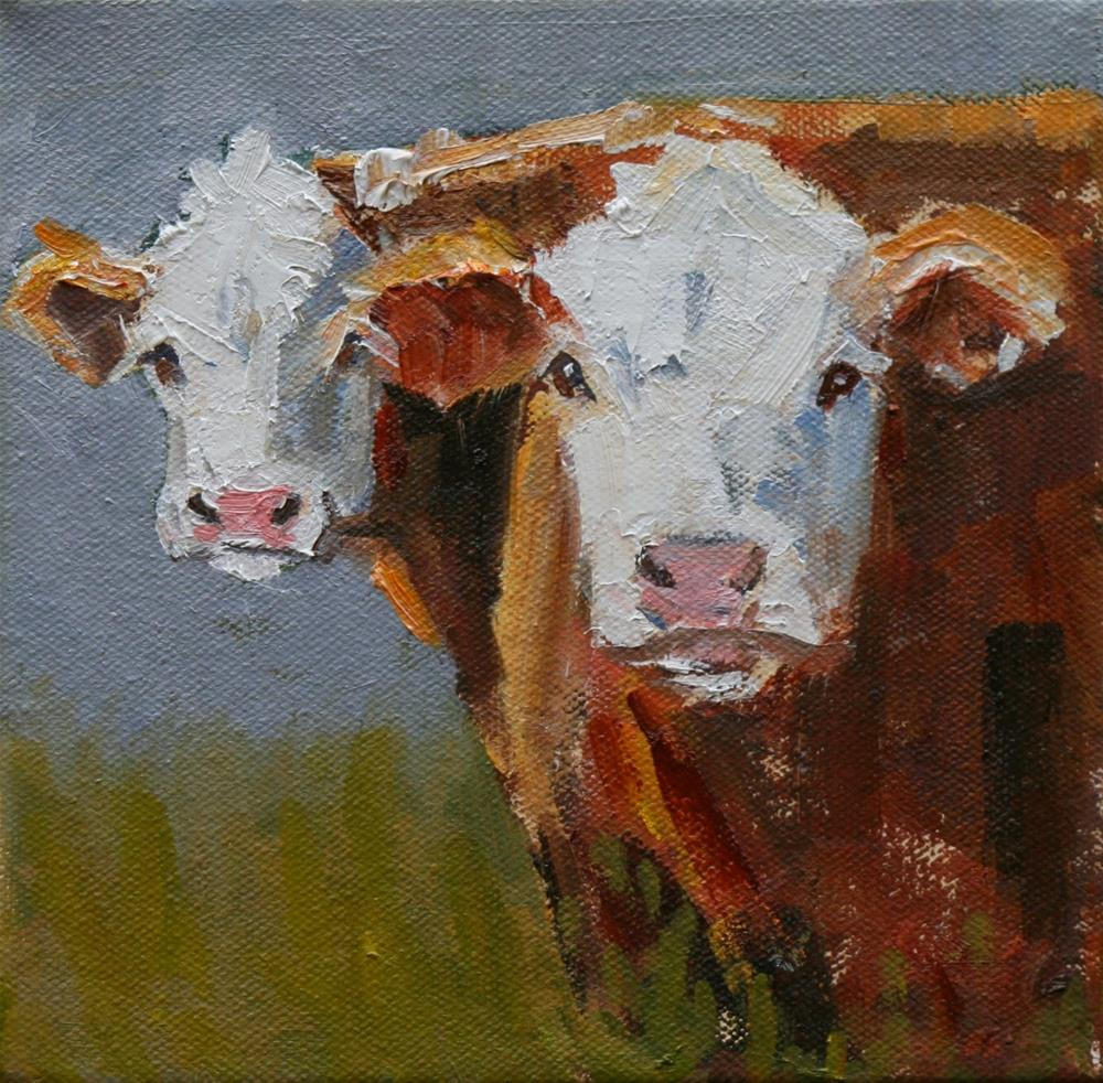 """bromance"" original fine art by Carol Carmichael"