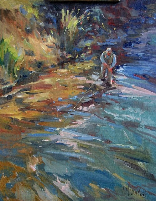 """Blue Fly Shadows"" original fine art by Mary Maxam"