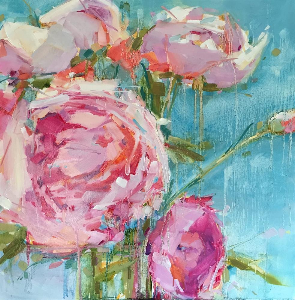 """Crying Peonies"" original fine art by Kathleen Broaderick"
