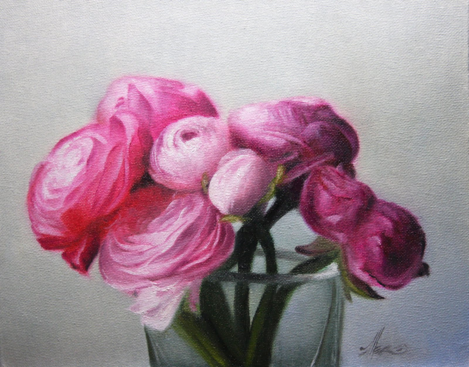 """Ranunculus 2"" original fine art by Jonathan Aller"