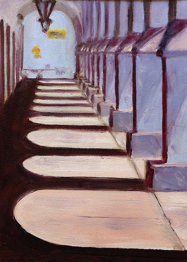 """Shadow Walk"" original fine art by Linda Lowery"
