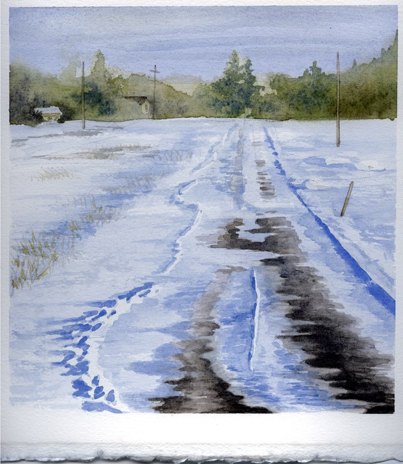 """Winter Driveway"" original fine art by Eileen Hennemann"