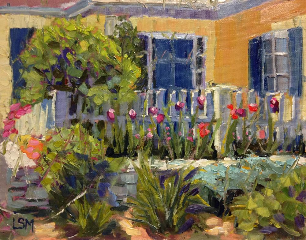 """Roxanne's Garden"" original fine art by Linda Marino"