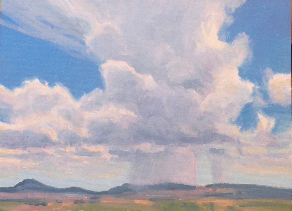 """Land Sky and Rain"" original fine art by David Forks"