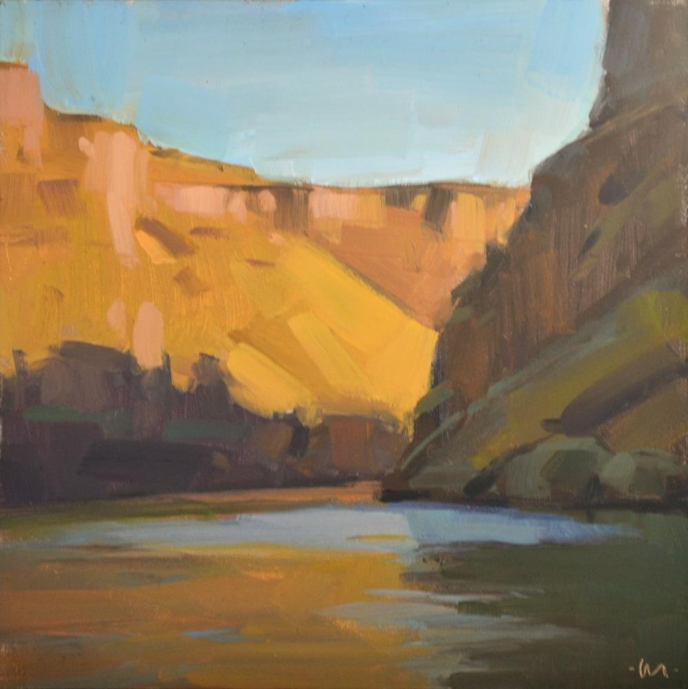 """Crooked River Canyon"" original fine art by Carol Marine"