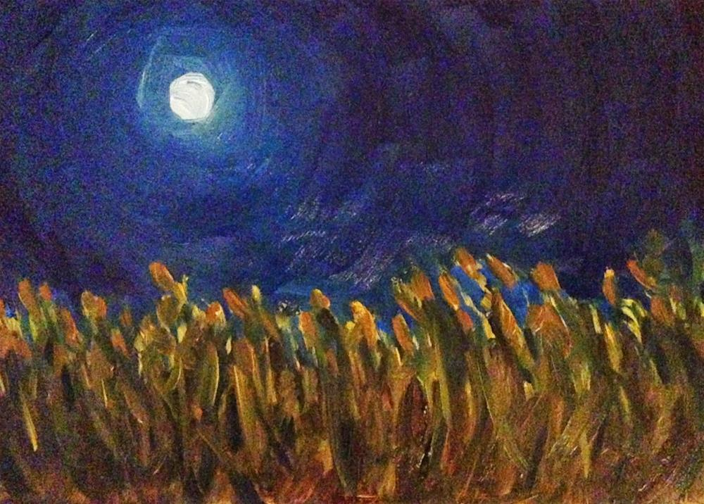 """Field Of My Dreams, 5x7 Oil Painting by Kelley MacDonald"" original fine art by Kelley MacDonald"