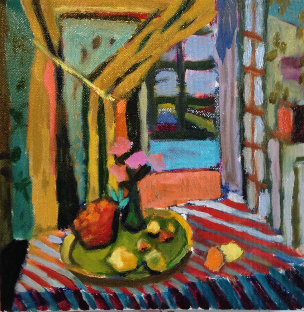 """Mother's Table"" original fine art by Pamela Hoffmeister"