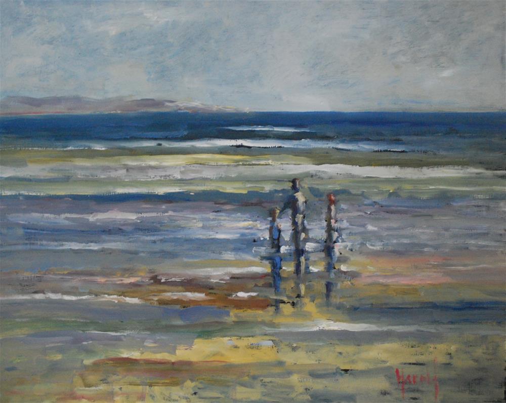 """Afternoon at the Shore"" original fine art by Deborah Harold"