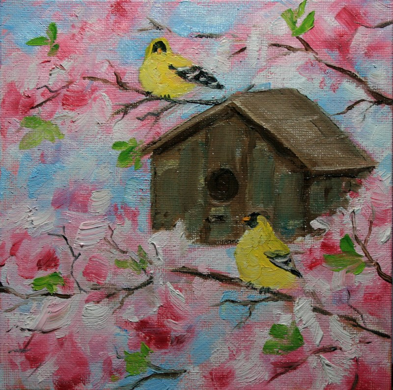 """Summer House"" original fine art by Jean Nelson"