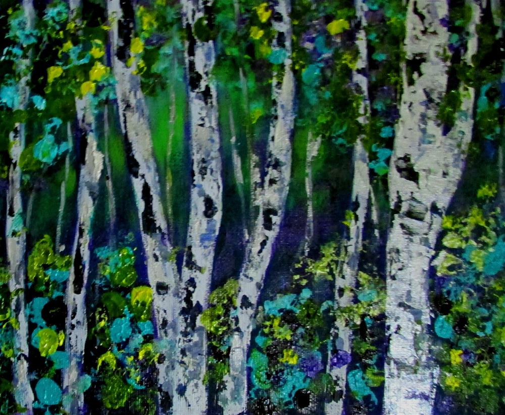 """8 x 10 inch acrylic Forest Magic #2"" original fine art by Linda Yurgensen"