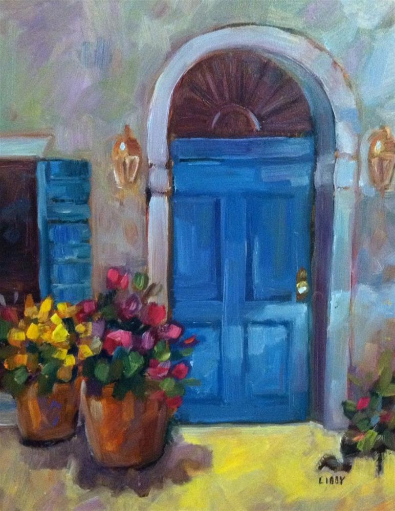 """Shadow door"" original fine art by Libby Anderson"