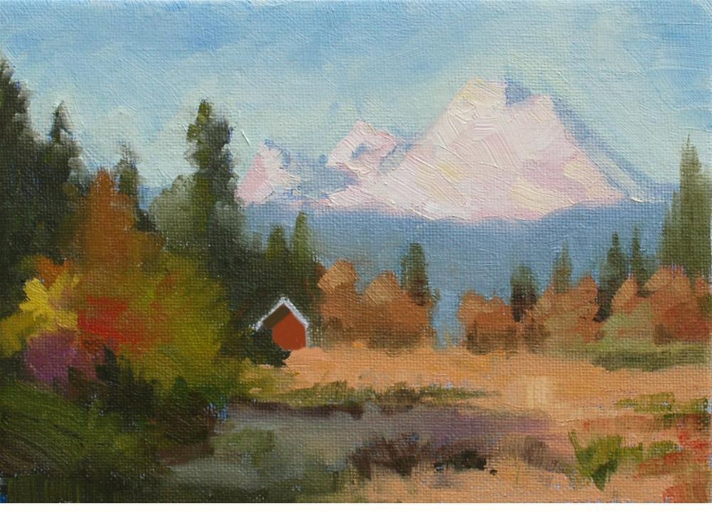 """""""Spring Creeps Into the Valley - Plein Air"""" original fine art by Susan McManamen"""