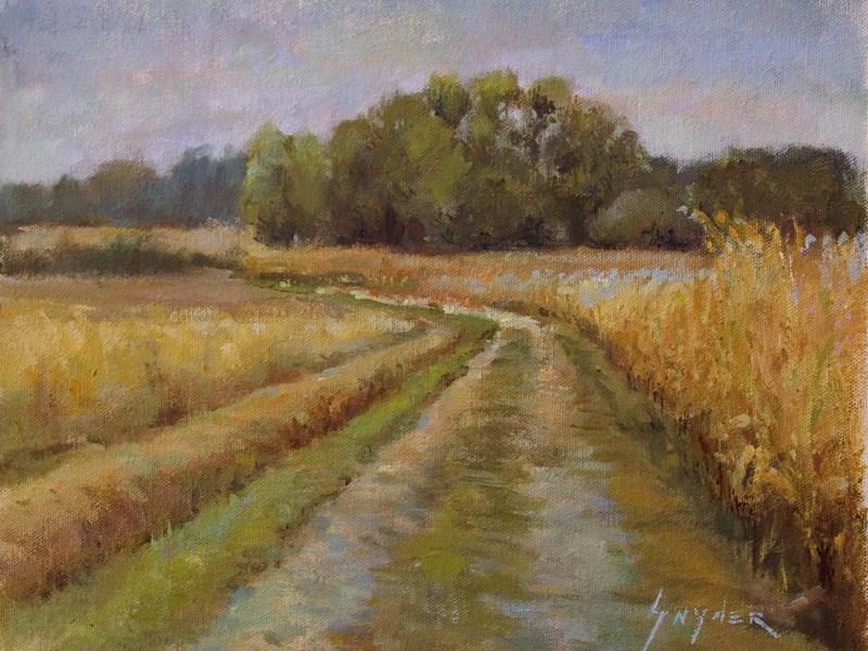 """""""Farm Road, Frontenay Sur Dive, Poitiou, France"""" original fine art by Julie Snyder"""
