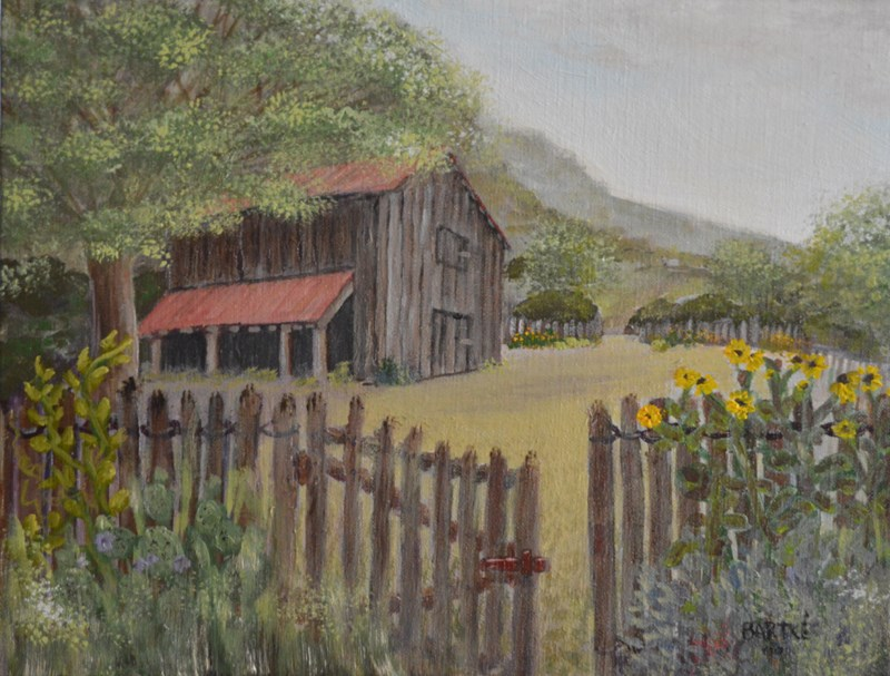 """Buck's Barn"" original fine art by Janice Bartke Thompson"