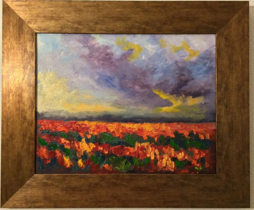 """Flower Field glory"" original fine art by Ramya Sarveshwar"