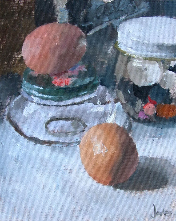 """Jars"" original fine art by Richard Jones"