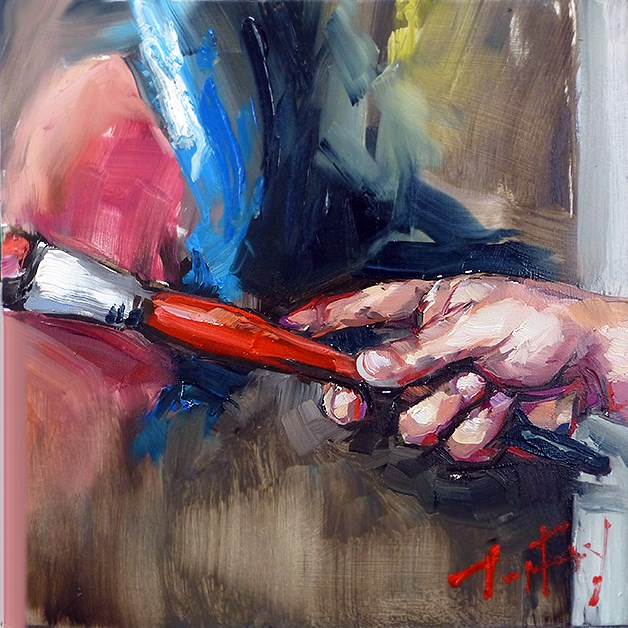 """Hand"" original fine art by Jurij Frey"
