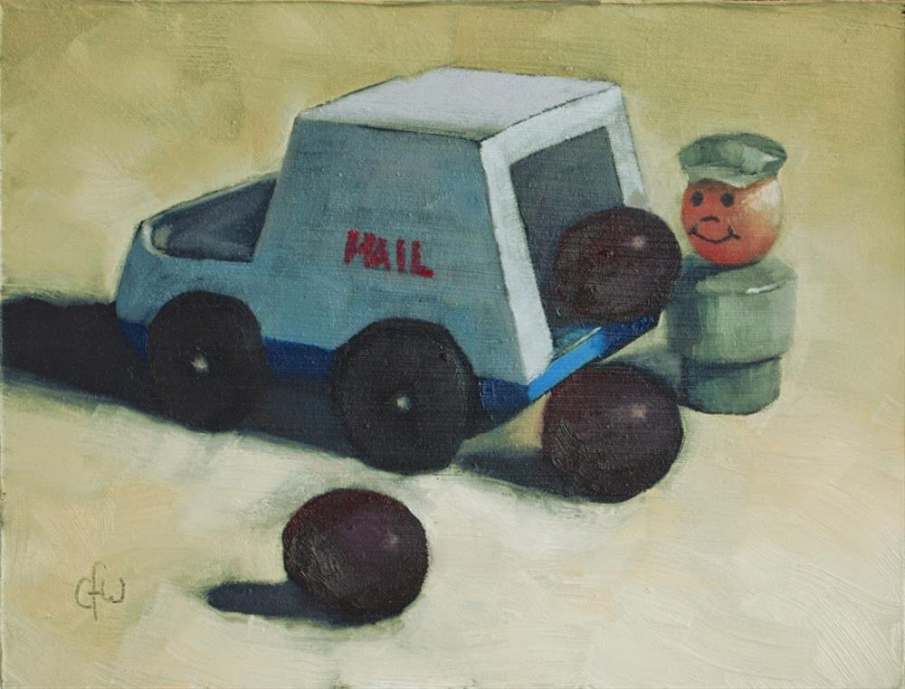 """Mail Order Grapes"" original fine art by Gary Westlake"