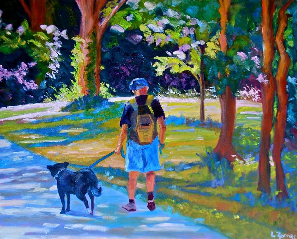 """A Walk in the Park"" original fine art by Liz Zornes"