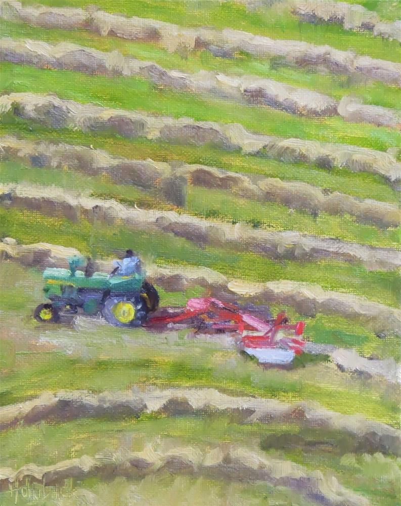 """Raking The Hay"" original fine art by Pam Holnback"