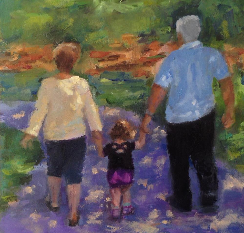 """""""Creating simple memories"""" original fine art by Linda Carney"""