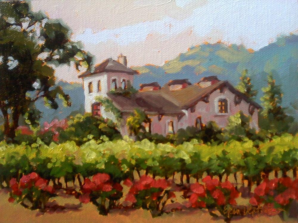 """Wine and Roses"" original fine art by Erin Dertner"