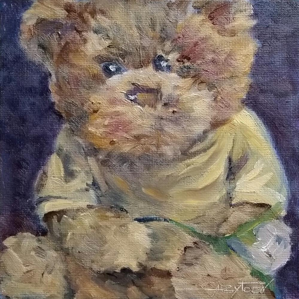 """Teddy"" original fine art by Gabriella DeLamater"