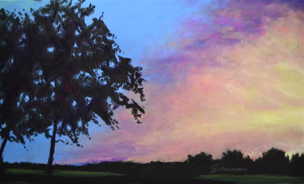 """First Sunset"" original fine art by Laurie Sammons"