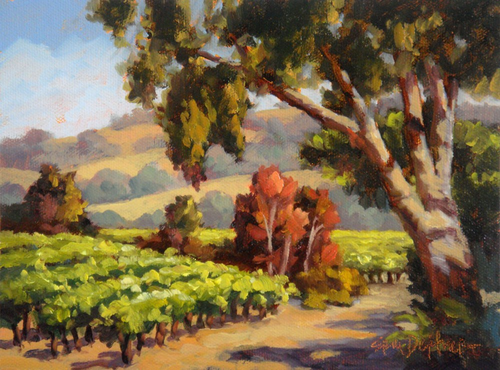 """Amble Through the Vineyard"" original fine art by Erin Dertner"
