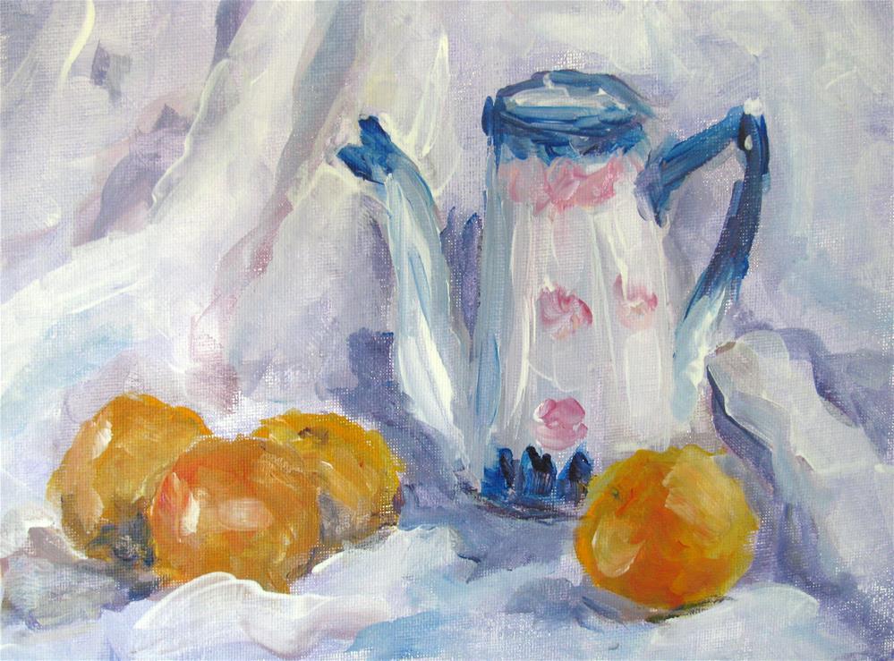 """Clementines"" original fine art by Susan Elizabeth Jones"