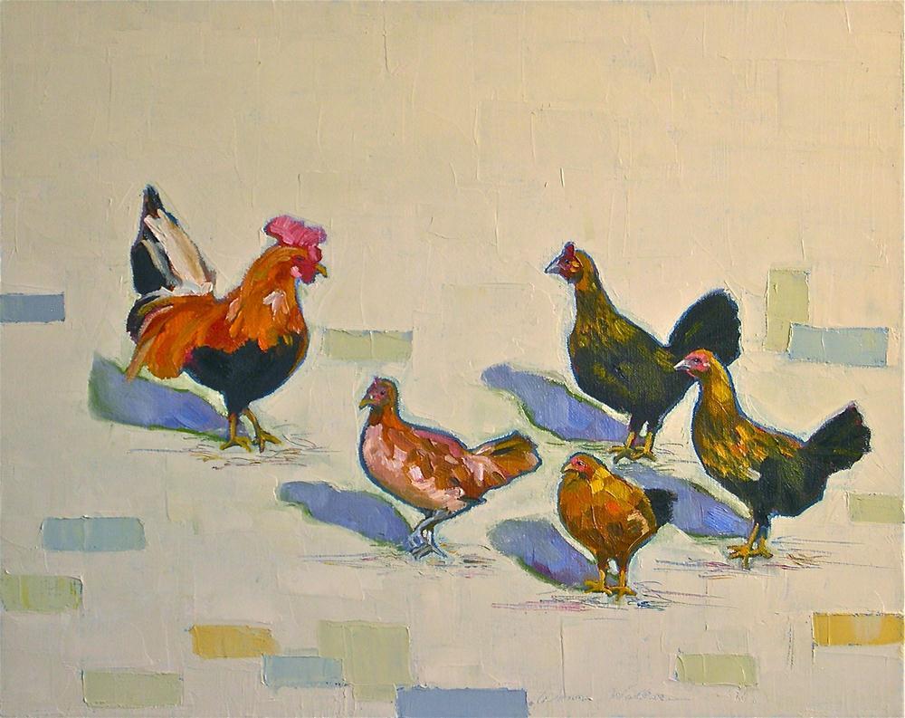 """""""Chicken Scratch"""" original fine art by Donna Walker"""