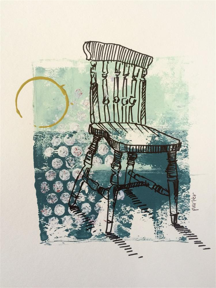 """Chair Print"" original fine art by Teddi Parker"