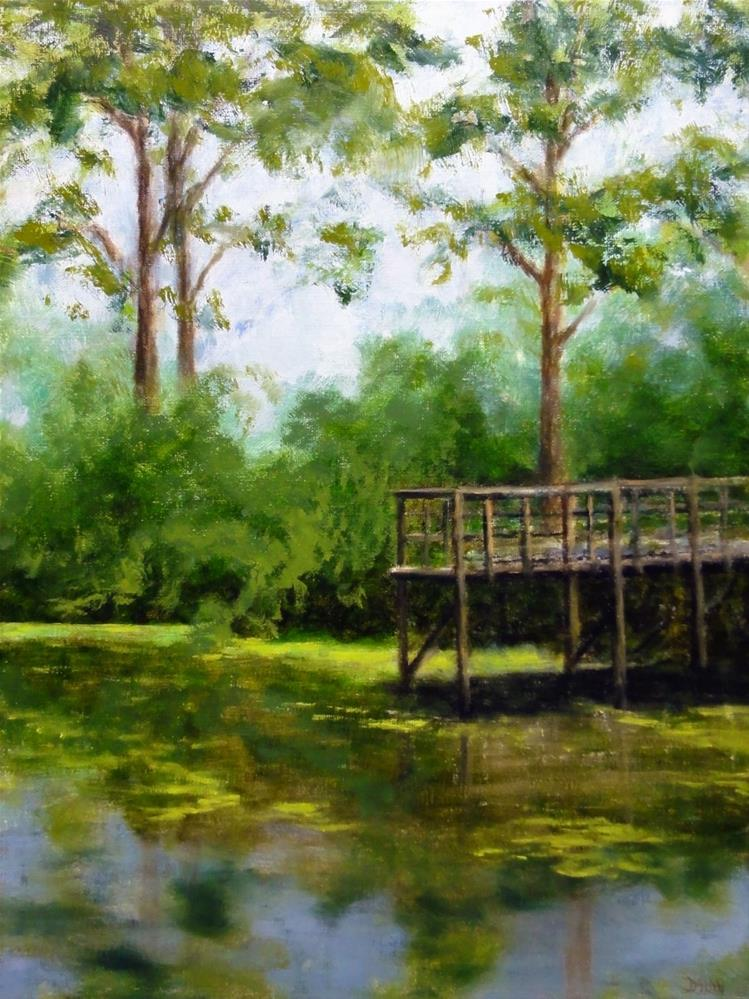 """The Old Fishing Dock Plein Air New Orleans"" original fine art by Dalan Wells"