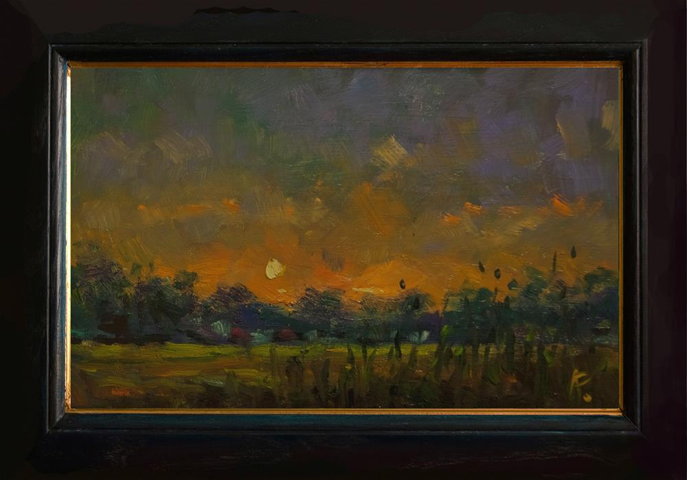 """Sunset at Climping"" original fine art by Andre Pallat"