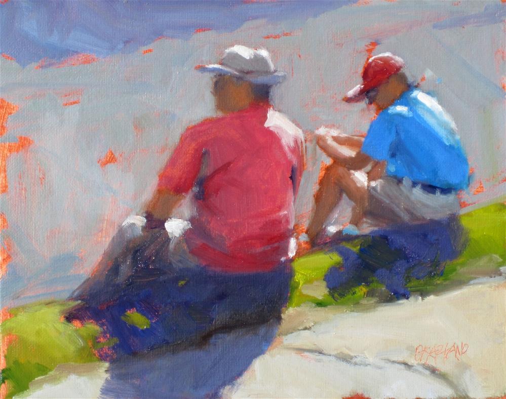 """""""a father to son talk"""" original fine art by Dan Graziano"""
