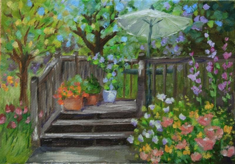 """""""Confetti"""" original fine art by Jean Nelson"""