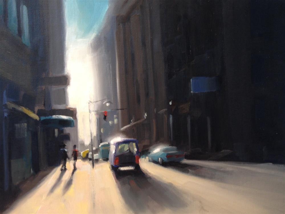 """Urban Romance"" original fine art by Thomas Ruckstuhl"