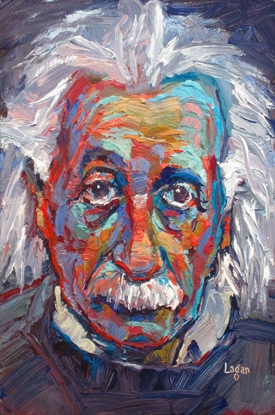 """Einstein, Albert"" original fine art by Raymond Logan"