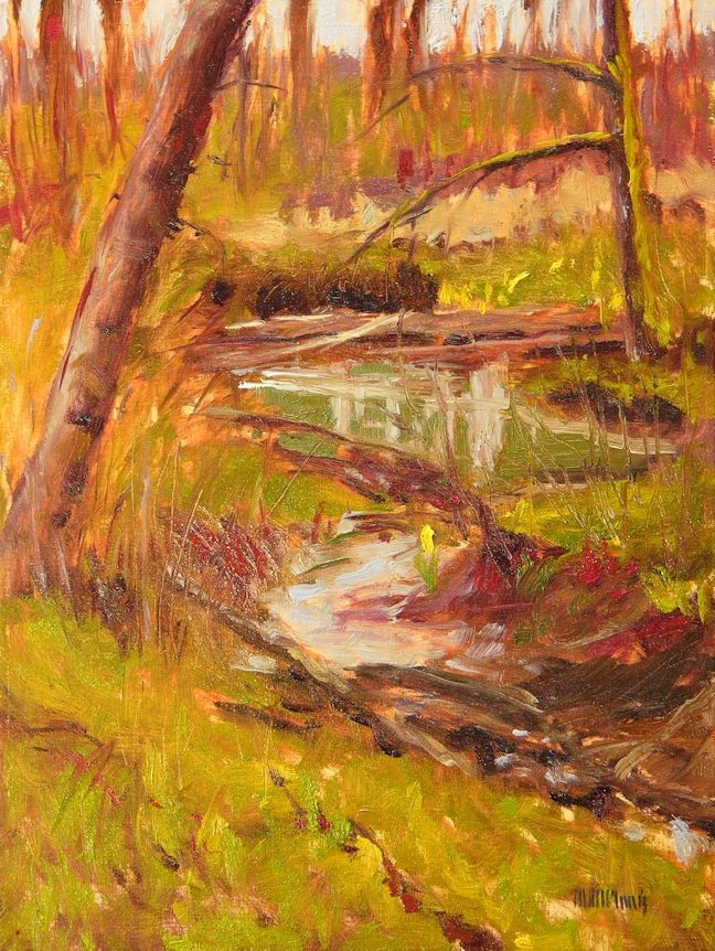 """Skunk Cabbage #1"" original fine art by Mary McInnis"