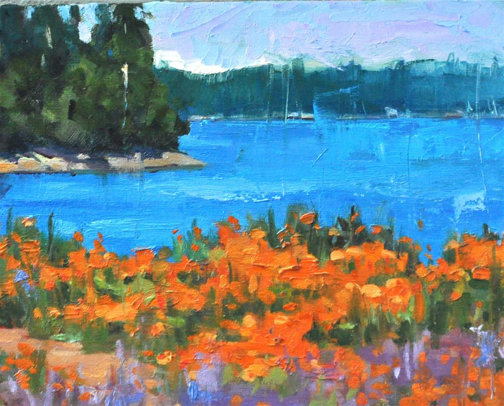 """Island's poppies"" original fine art by Emiliya Lane"