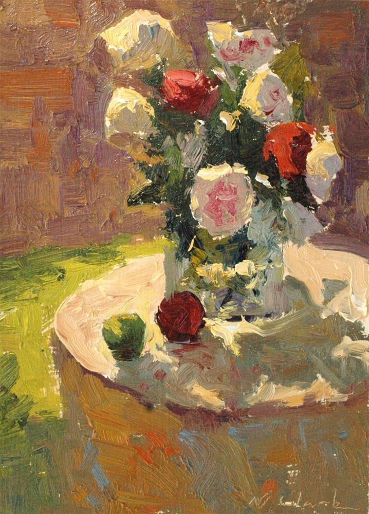 """Summer Peonies "" original fine art by Michael Clark"
