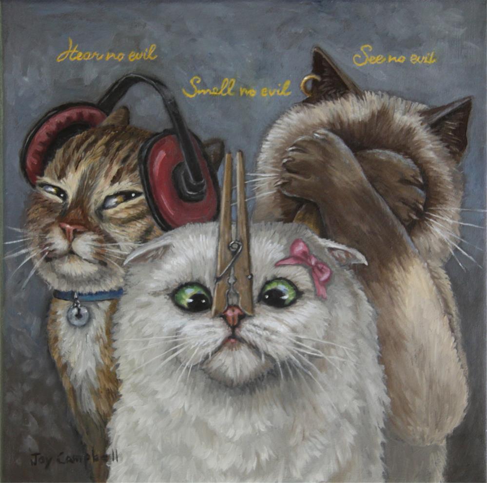 """Hear no Evil"" original fine art by Joy Campbell"